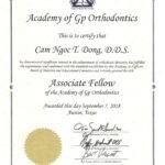 Academy of GP Orthodontics associate fellow