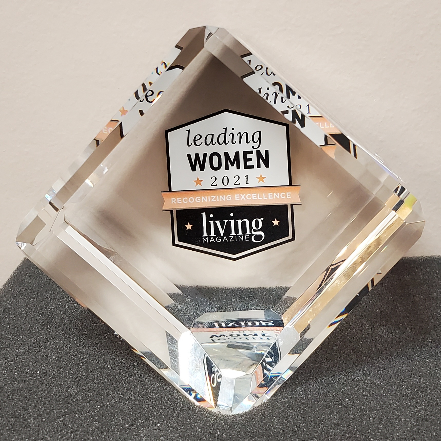 Leading Women Trophy Award from Living Magazine