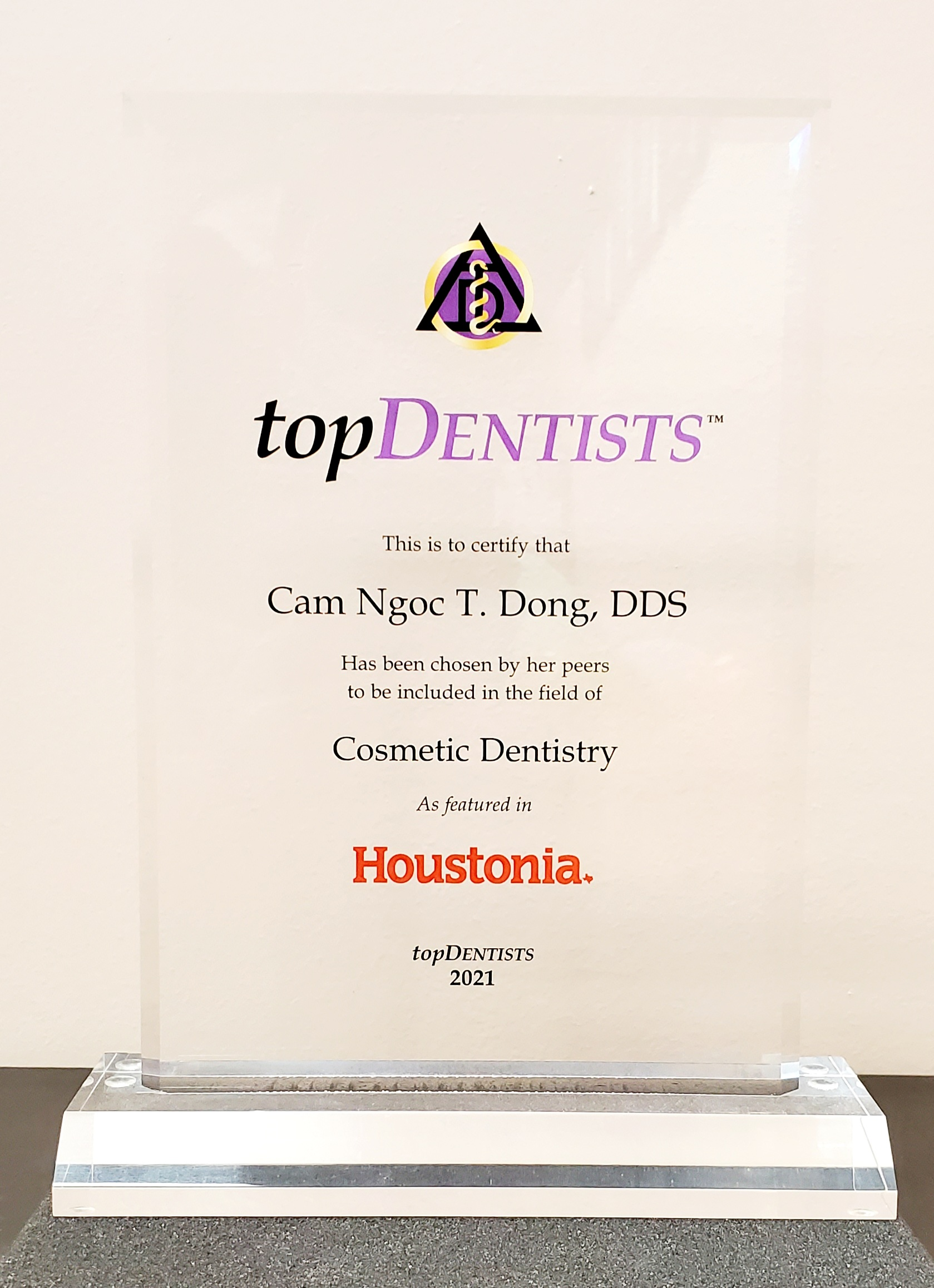Top Dentists Trophy Award